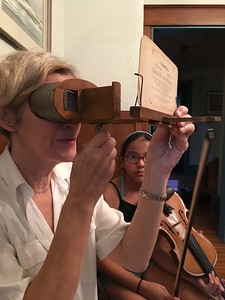 Eileen became entranced with an old stereo view of Holyoke