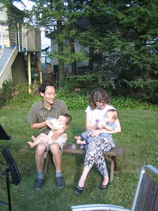 Josh and Beth with twins Emile and Isaac