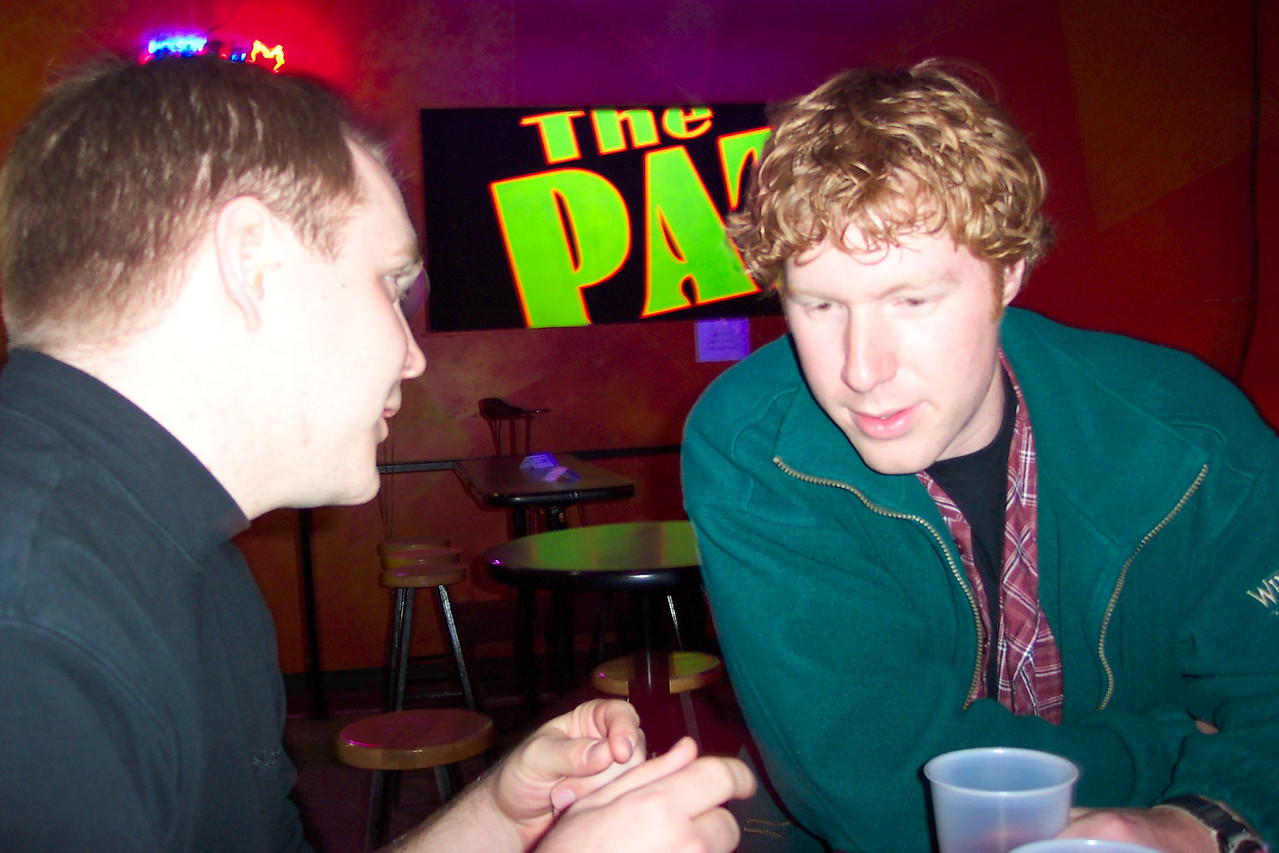 We went to a beer night at the Pat. Boehmer and Cory.
