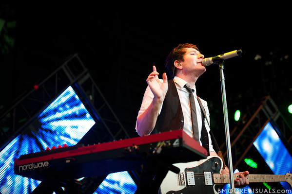 Owl City performs at the Amphitheater in Tampa, Florida on September 10, 2010