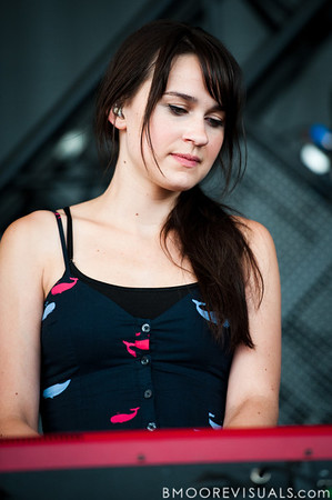 Breanne Düren of Owl City performs at the Amphitheater in Tampa, Florida on September 10, 2010