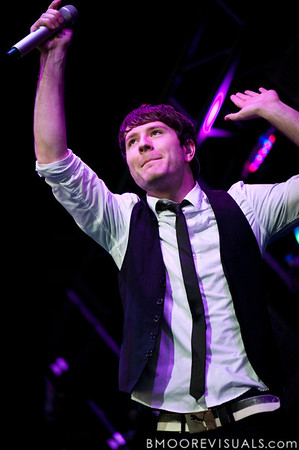 Adam Young of Owl City performs at the Amphitheater in Tampa, Florida on September 10, 2010