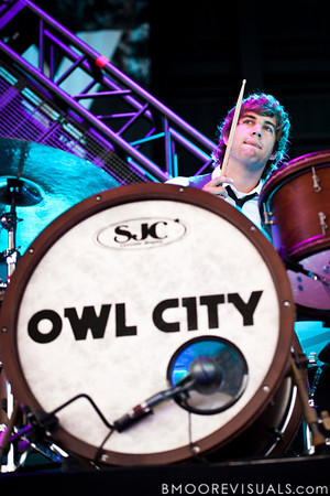 Matthew Decker of Owl City performs at the Amphitheater in Tampa, Florida on September 10, 2010