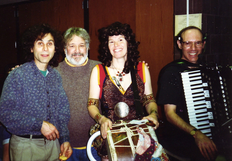 """Xena made a surprise appearance in Amherst at the 1996 Halloween party, just after Joe asked, """"Where's the drummer?"""""""
