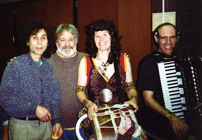 "Xena made a surprise appearance in Amherst at the 1996 Halloween party, just after Joe asked, ""Where's the drummer?"""