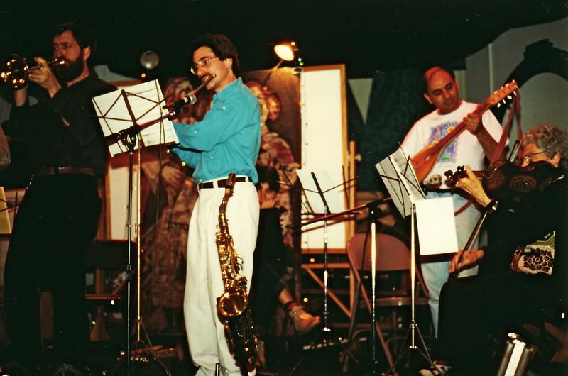 Panharmonium gig in Troy, N.H. May 1995.