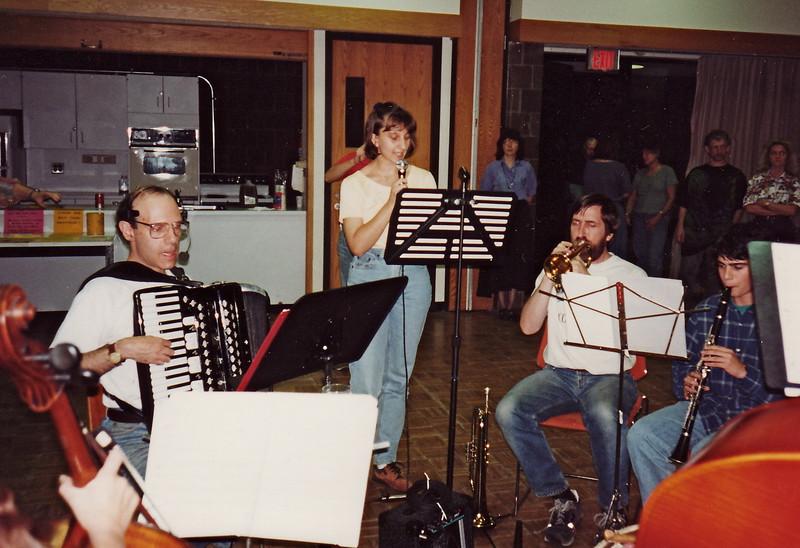 October 1994.  Andrea Ujvari singing.