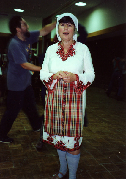 Toni in Bulgarian costume.  November 3, 1995.