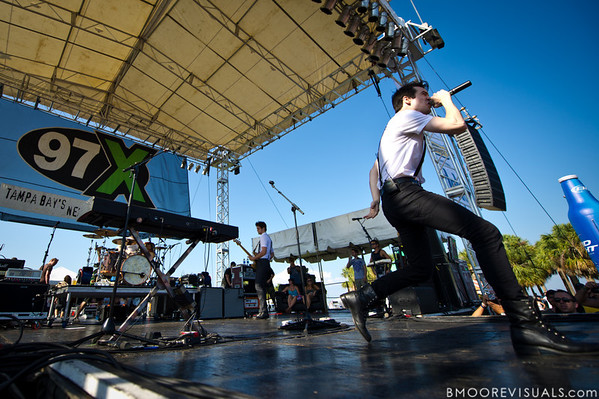 Brendan Urie of Panic! At The Disco performs on May 28, 2011 during 97X Backyard BBQ at Vinoy Park in St. Petersburg, Florida