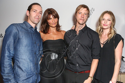 "LOS ANGELES, CA - SEPTEMBER 01:  (L-R) Director Michael Polish, model Helena Christensen, musician Paul Banks and actress Kate Bosworth attend the listening party for Paul Banks' album ""Julian Plenti Lives..."" at Sonos Studio on September 1, 2012 in Los Angeles, California.  (Photo by Chelsea Lauren/WireImage)"