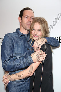 "LOS ANGELES, CA - SEPTEMBER 01:  Director Michael Polish (L) and actress Kate Bosworth attend the listening party for Paul Banks' album ""Julian Plenti Lives..."" at Sonos Studio on September 1, 2012 in Los Angeles, California.  (Photo by Chelsea Lauren/WireImage)"