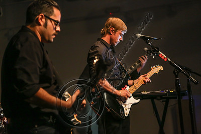 "LOS ANGELES, CA - SEPTEMBER 01:  Musician Paul Banks (R) performs at the listening party for his album ""Julian Plenti Lives..."" at Sonos Studio on September 1, 2012 in Los Angeles, California.  (Photo by Chelsea Lauren/WireImage)"
