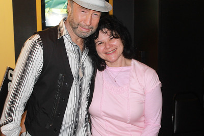 "Paul Rodgers and fan at ""The Royal Sessions"" album release party (2/15/14)."