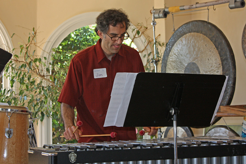 Jim solos on the vibraphone