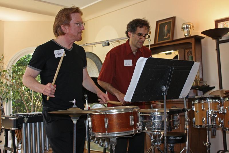 Ward and Jim performing