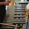 A marimba is set up like a piano