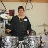Me (Karen Ivy) with the drum set