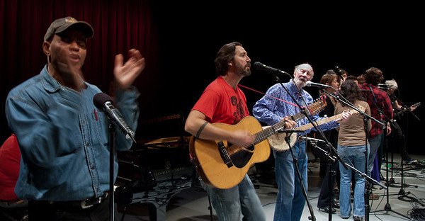 Pete Seeger and more at soubnd check.