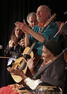 Roland Moussa, David Amram, Pete Seeger and Odetta