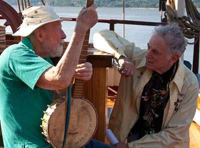 Pete Seeger and David Amram on the Mystic Whaler.