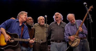 John Sebastian, Josh White, JR, Peter Yarrow, Tom Paxton and Pete Seeger.
