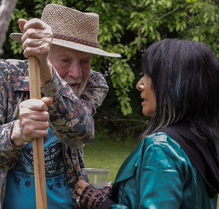 Pete Seeger and Buffy Sainte-Marie