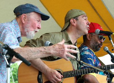 Pete Seeger, John Hall and Vance Gilbert