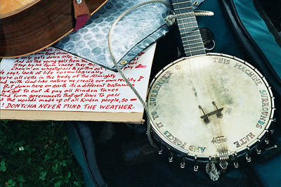 "Pete Seegers ""machine"" and the words to Spooks Handy's song ""Vote""."