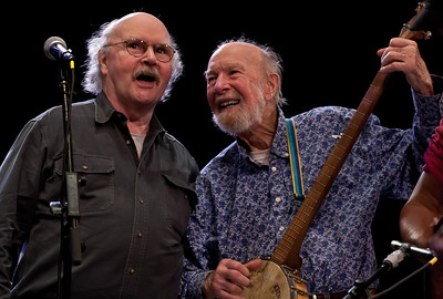 Tom Paxton and Pete Seeger.