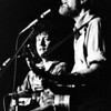 C.W. McKeen - The Record, Pete Seiger and Arlo Guthrie sing together in Albany fo The Farmworkers benefit concert that raised over $10,000 in June 1974.