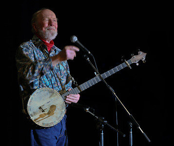 Pete Seeger at the Clearwater Spring Splash at the Beacon, NY high school.