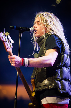 Phil Joel performs with Peter Furler on January 14, 2012 during Winter Jam at Tampa Bay Times Forum in Tampa, Florida