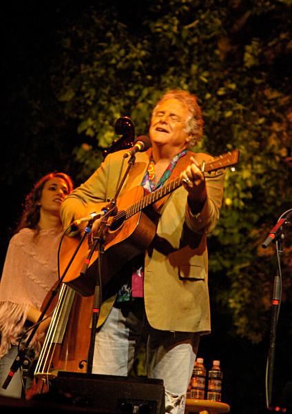 Peter Rowan at Rocky Grass with Bryn Davies.