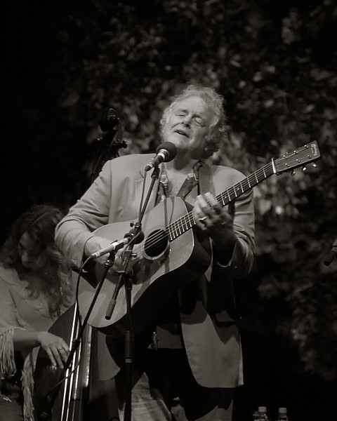 Peter Rowan at RockyGrass with Bryn Davies.