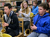 North Penn middle and high school jazz band saxophone and flute players get intructions during the Philly Big Band clinic at Pennfield Middle School on Wednesday January 15,2014. Photo by Mark C Psoras/The Reporter