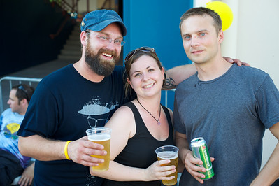 Matt and Angie Ayres of Columbus and Jayson Tennant of Cleveland at Riverbend Friday for Phish