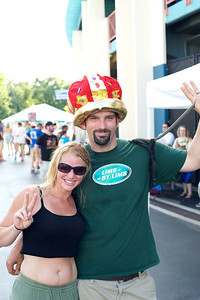 Miranda and Josh King of New Martinsville West Virginia at Riverbend Friday for Phish
