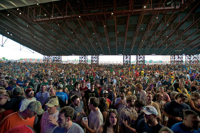 The crowd waits for the band to perform at Riverbend Music Center Sunday for Phish