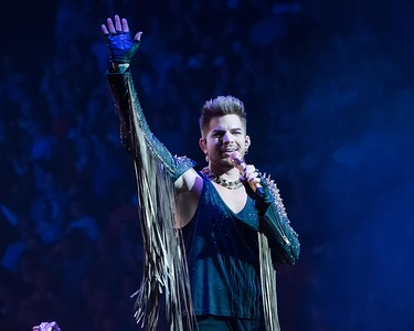 ADAM LAMBERT WITH QUEEN-PHILADELHIA -NATIONAL ROCK REVIEW