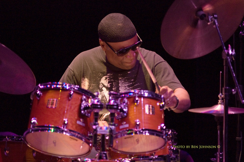 Rashied Ali performing with Henry Grimes at The Gorddon Theater, Rutgers State College, Camden Campus, Camden, New Jersey February 7, 2000  - Rashied Ali Photo