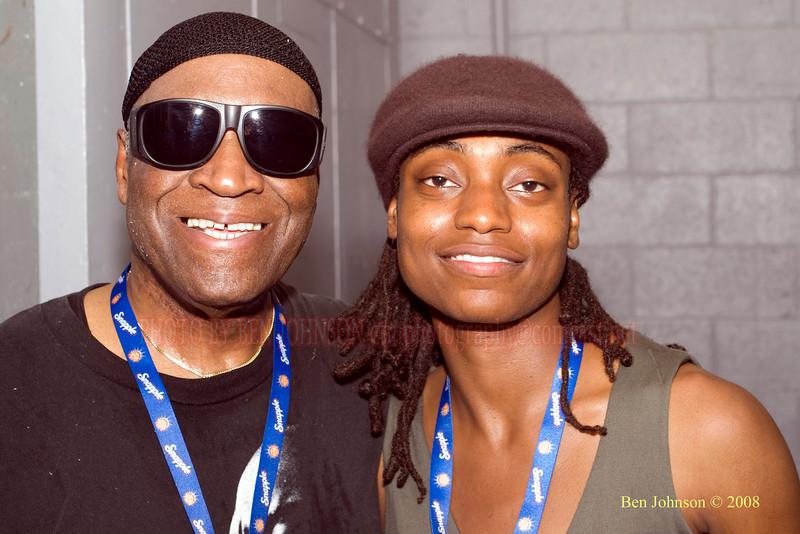 Rashied Ali and Lakecia Benjamin - The 2008 Charlie Parker Jazz Festival, August 23-24, held in Marcus Garvey Parker, and Tomkins Square Park  - Rashied Ali Photo