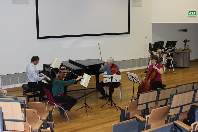 Teresita Piano Quartet playing Mozart's G minor quartet.