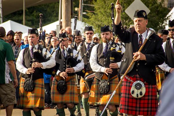 Atlanta Pipe Band at the Celtic Classic in Bethlehem, Pennsylvania. September 29, 2012. © Joanne Milne Sosangelis. All rights reserved.
