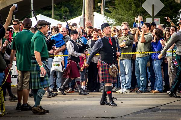 Roisin Dubh Pipe Band at the Celtic Classic in Bethlehem, Pennsylvania. September 29, 2012. © 2012 Joanne Milne Sosangelis. All rights reserved.