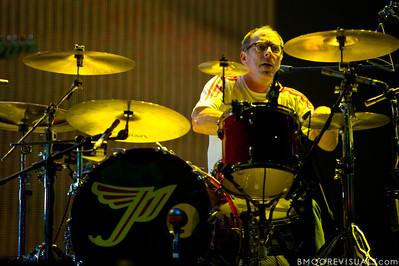 David Lovering of Pixies performs at The Citrus Bowl in Orlando, Florida during Orlando Calling on November 12, 2011