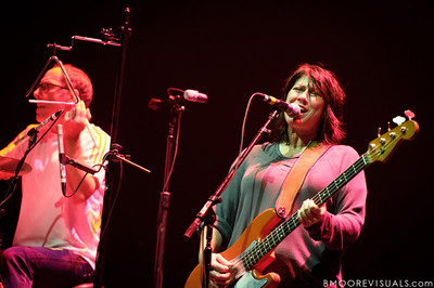 David Lovering and Kim Deal of Pixies perform at The Citrus Bowl in Orlando, Florida during Orlando Calling on November 12, 2011