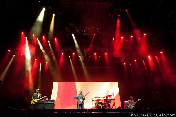 Joey Santiago, Black Francis, David Lovering, and Kim Deal of Pixies perform at The Citrus Bowl in Orlando, Florida during Orlando Calling on November 12, 2011