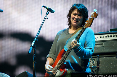 Kim Deal of Pixies performs at The Citrus Bowl in Orlando, Florida during Orlando Calling on November 12, 2011