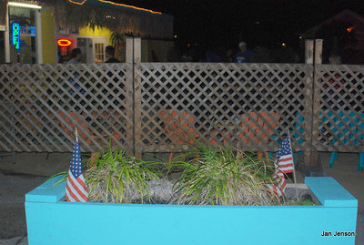 The garden (?) at The Last Resort in Carolina Beach on Pleasure Island, NC