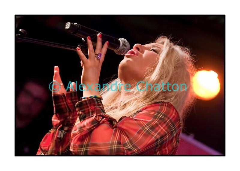 Carly Connor.<br /> <br /> Jeudi 7  juillet 2011 au 45e Montreux Jazz Festival.